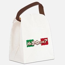 HaYaDoin(blk).png Canvas Lunch Bag