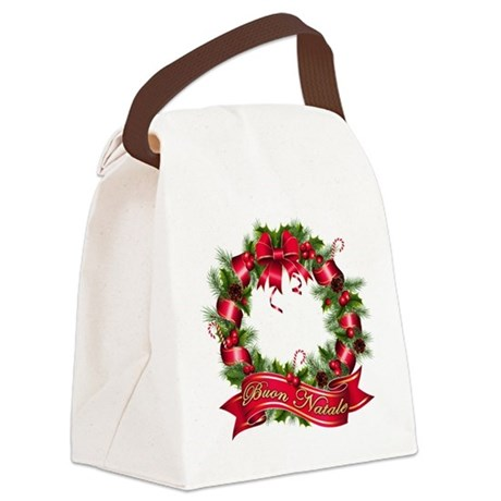 buon natale bb.png Canvas Lunch Bag