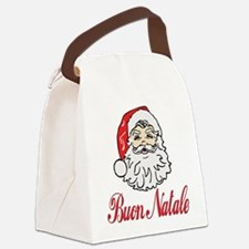 buon natale ornament circle.png Canvas Lunch Bag