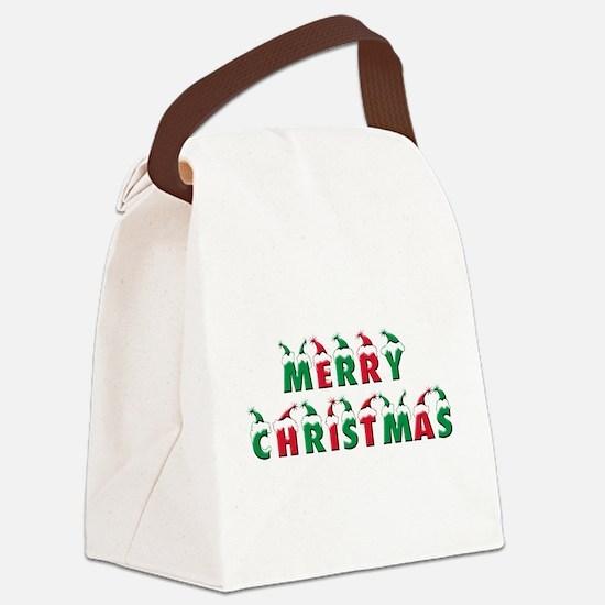 Cute Merry christmas Canvas Lunch Bag
