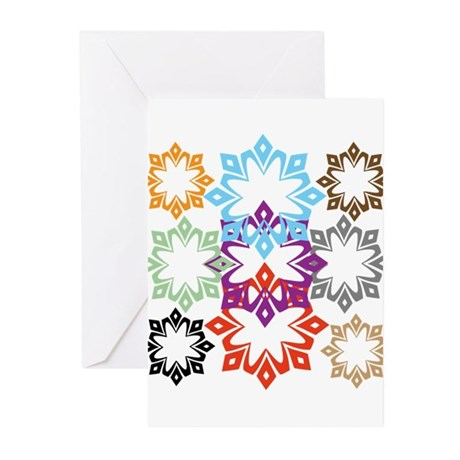 OYOOS Snow Flakes design Greeting Cards (Pk of 10)