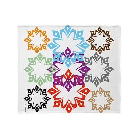 OYOOS Snow Flakes design Throw Blanket