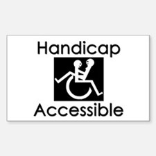 """""""Handicap Accessible"""" Rectangle Decal"""