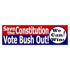 Save the Constitution Bumper Bumper Sticker