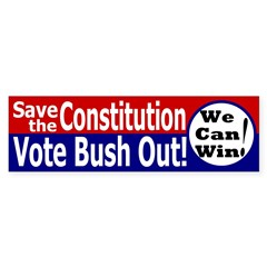 Save the Constitution Bumper Bumper Sticker
