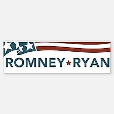 Romney Ryan Flag Bumper Sticker Sticker (Bumper)