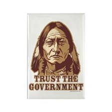 Trust Government Sitting Bull Rectangle Magnet (10