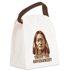 Trust Government Sitting Bull Canvas Lunch Bag