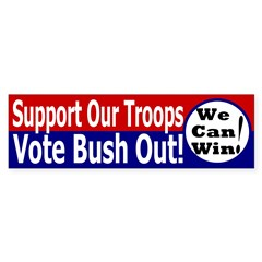 Support Our Troops (Bush) Bumper Bumper Sticker