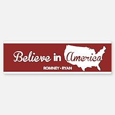 Believe In America Bumper Bumper Sticker Red Bumper Bumper Sticker