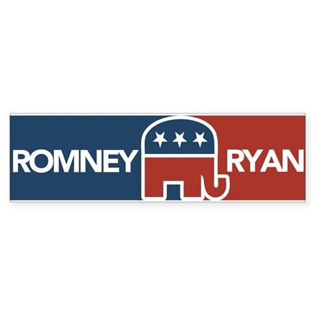 Romney Ryan Republican Elephant Sticker (Bumper)