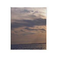 Ocean Sky at Dusk Throw Blanket