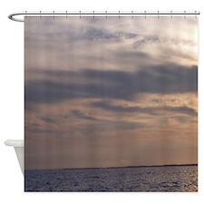 Ocean Sky at Dusk Shower Curtain