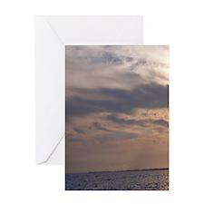 Ocean Sky at Dusk Greeting Card
