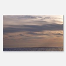 Ocean Sky at Dusk Sticker (Rectangle)