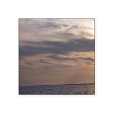 "Ocean Sky at Dusk Square Sticker 3"" x 3"""