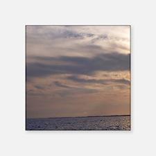 "Ocean Sky at Dusk Square Sticker 3"" x 3"""