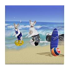 Devons Surfing Tile Coaster