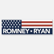 Romney Ryan Flag Sticker (Bumper)