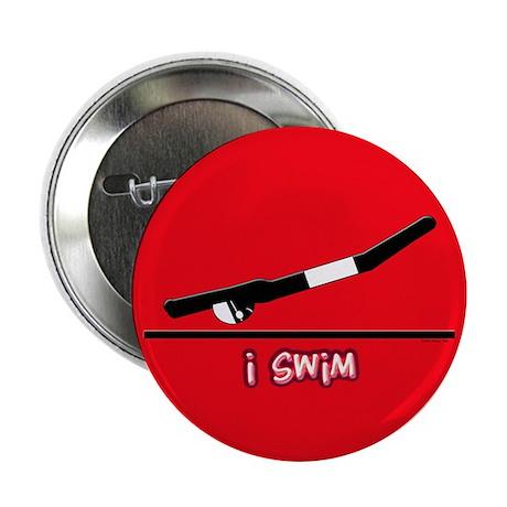 i swim (boy) solid red Button