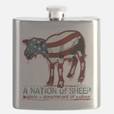 A Nation Of Sheep Flask
