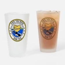 US Navy USS Toledo SSN 769.png Drinking Glass