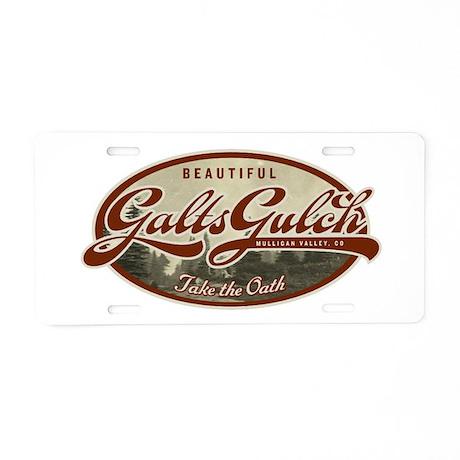 Galts Gulch Aluminum License Plate