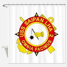 US Navy USS Saipan LHA 2.png Shower Curtain