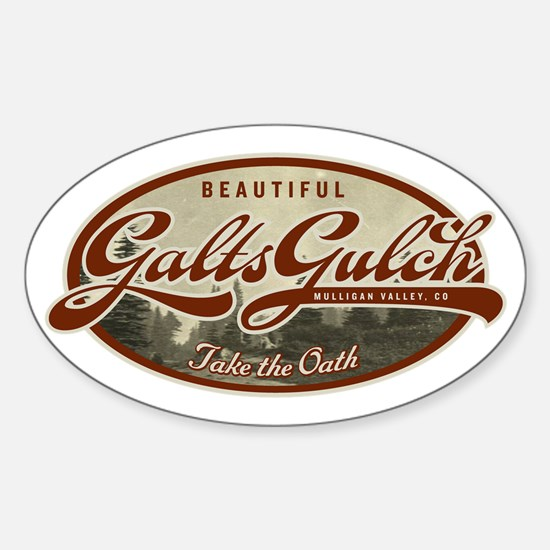 Galts Gulch Sticker (Oval)