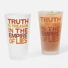 Truth Is Treason Drinking Glass