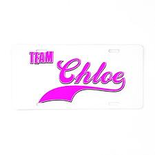 Team Chloe Aluminum License Plate
