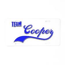 Team Cooper Aluminum License Plate