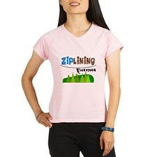 ziplines survivor 4.PNG Performance Dry T-Shirt