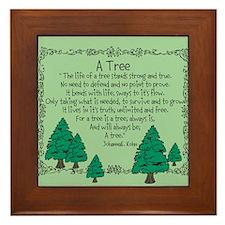 Original Poetry A Tree Framed Tile