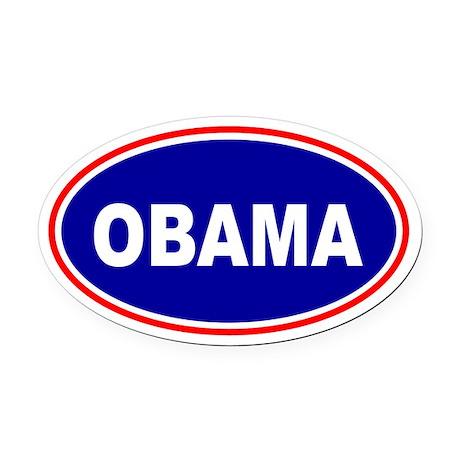 Obama Decal Oval Car Magnet