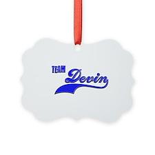 Team Devin Ornament
