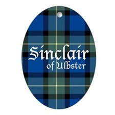 Tartan - Sinclair of Ulbster Ornament (Oval)