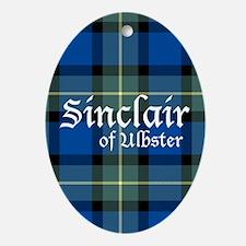 Tartan - Sinclair of Ulbster Ornament (Oval)
