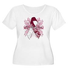 Throat Cancer Flourish T-Shirt