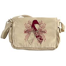 Throat Cancer Flourish Messenger Bag
