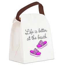 BEACH BABE Canvas Lunch Bag