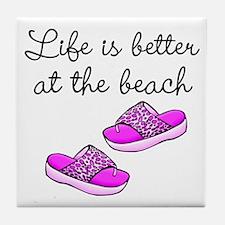 BEACH BABE Tile Coaster