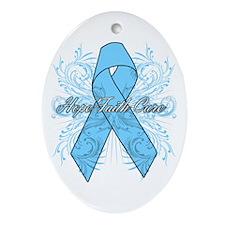 Prostate Cancer Flourish Ornament (Oval)