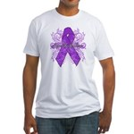 Pancreatic Cancer Flourish Fitted T-Shirt
