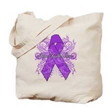Pancreatic Cancer Flourish Tote Bag