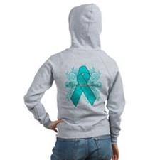 Ovarian Cancer Flourish Zip Hoodie