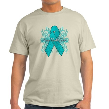 Ovarian Cancer Flourish Light T-Shirt