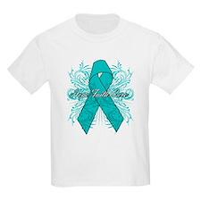 Ovarian Cancer Flourish T-Shirt