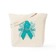 Ovarian Cancer Flourish Tote Bag