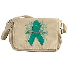 Ovarian Cancer Flourish Messenger Bag